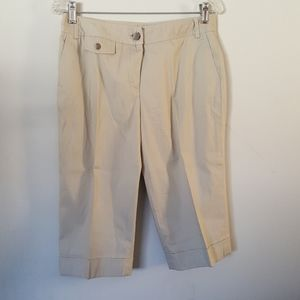 Dalia Collection Petite 8P Bermuda Khaki Shorts